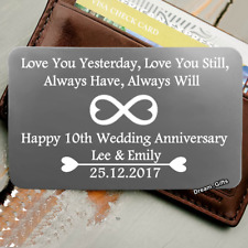 Wedding Anniversary Gifts for Him & Her Xmas Present Husband Wife Men Women W36