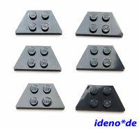 Lego Star Wars Construcción 6 Unidades Oblícua Placa 51739 Ala 2 X 4 Negro Nuevo