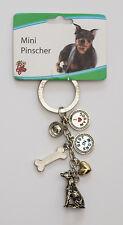 Mini Pinscher Key Chain - Pewter - LittleGifts
