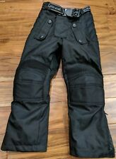 Yamaha Padded Waterproof Snowmobile Pants Bibs Boy Kids Toddler MEDIUM Black