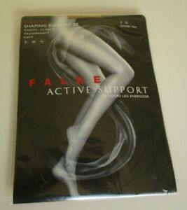 One Pair Falke Active Support Tights Size Medium Powder new (beige)