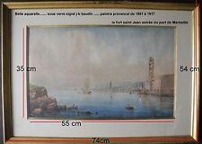 Aquarelle de Jean-Baptiste BAUDIN ..Peintre Provençal de ...1851 à 1917