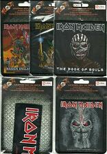 IRON MAIDEN bunch of 5 top sellers WOVEN SEW ON PATCHES official MERCH no.4