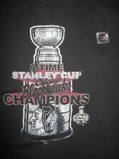 5-Time Stanley Cup CHICAGO BLACK HAWKS Champions (LG) T-Shirt w/ Hologram