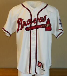 1999 Russ Springer Game Worn Atlanta Braves Home Jersey #36 - Size 48