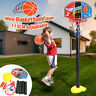 Portable Free Standing Basketball Hoop Net Kids Backboard Stand Set Adjustable