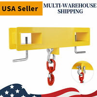 Forklift Hoist Hook Swivel Lifting Attachment Hitch 4500lb Adapter Mobile Crane
