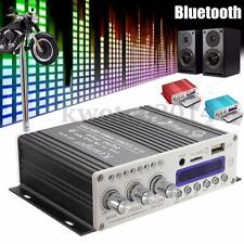 Mini Car Bluetooth Amplifier HiFi Audio Stereo 2CH Digital Home AMP Bass