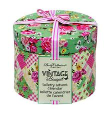 Advent Calendar Bath and Body Body Collection Vintage Bouquet Toiletry Bunting