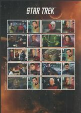 Star Trek Royal Mail Captains Character Stamps/Stickers Sheet