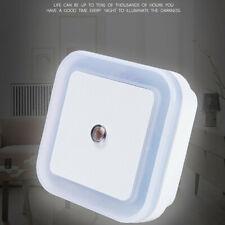 LED Night Light Lamp Auto Sensor Control For Bedroom Hallway 0.5W Plug-in White