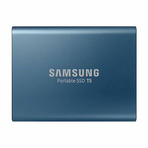 Samsung T5 500GB USB 3.1 Pocket Size Portable External SSD Blue