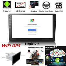 """10.1"""" 1DIN Android 7.1 1080P Car Stereo Radio Player 3G/4G WIFI GPS Navigation"""