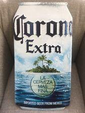 New! Corona Extra Beach Beer Can Shaped Tin Sign