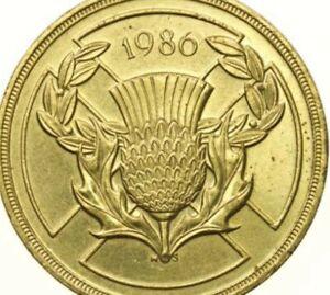 VERY RARE £2 Two Pound Coin - Scottish Scotland 1986 COMMONWEALTH GAMES