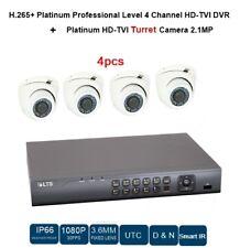 4CH HD-TVI DVR 1080P + NIGHT VISION 3.6MM TURRET 2.1MP 4PCS CCTV Camera sys.