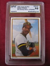 BARRY BONDS 1987 Topps All-Star Glossy #30 Pittsburgh Pirates 10 GEM MINT