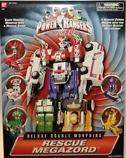 Power Rangers Turbo Rescue Megazord Deluxe Double Morphing Action Figure New
