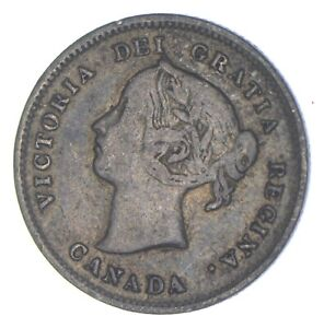 Better Date - 1888 Canada 5 Cents - SILVER *796