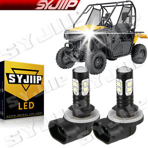 2Pcs for Honda UTVs Pioneer 500 700 LED Headlight Bulb 2 Pack White 6000k SYJIIP