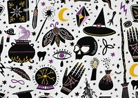 A1 Witchcraft Pattern Poster Art Print 60 x 90cm 180gsm - Witch Moth Gift #15385