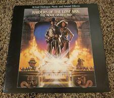 Raiders Of The Lost Ark: Movie On Record Lp Vinyl + Booklet John Williams 1981