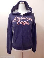 American Eagle Womens Zip Front Hoodie AE Sweatshirt L Navy Blue Great Gift NEW