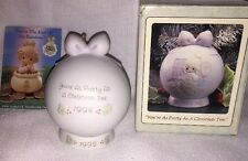 Vtg New Precious Moments Ball Ornament Is 1994 Stand Is 1992 530187 Original Box