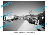 OLD 8x6 PHOTO FEATURING SMITHTON TASMANIA VIEW OF THE MAIN STREET c1960