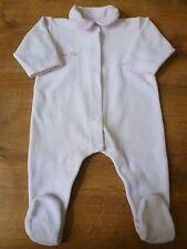 Petit Bateau***Pyjama velours/Dors bien/grenouillère  6 mois/67 cm Ailes d'ange
