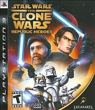Star Wars: The Clone Wars - Republic Heroes (Sony PlayStation 3, 2009) COMPLETE