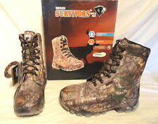 "HERMAN SURVIVORS MENS WATERPROOF INSULATED 8"" HUNTING BOOT, SIZE 11 WIDE, NEW"