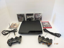 Sony Playstation 3 PS3 Slim 320GB CECH-3001B Console Lot w/ 5Games System Bundle