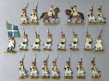 21 Zinnfiguren  2 x Reiter ca 4,5 cm Soldaten  Flachfiguren @ graue Uniform # 34