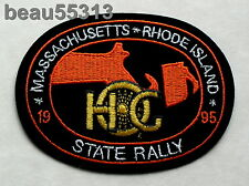 HARLEY DAVIDSON OWNERS GROUP HOG 1995 MASSACHUSETTS RHODE ISLAND STATE PATCH