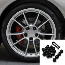 20pcs Noir pour Audi L6U0 PLASTIQUE Universel 19mm Voiture Capuchons Écrou Roue