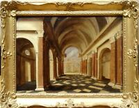 17th Century Dutch Old Master Church Cathedral Architectural Peeter I NEEFFS