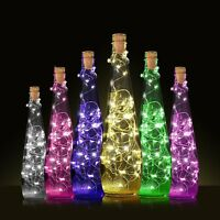 5M 50LED Cork Shaped Night Light Starry Light Wine Bottle Lamp For Xmas Decor
