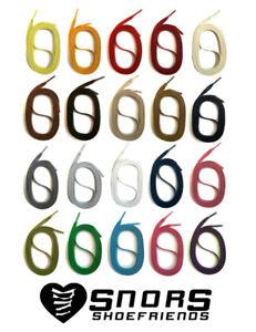 LACETS PLATS CIRÉS en coton 90-150cm pour les chaussures en cuir habillées SNORS