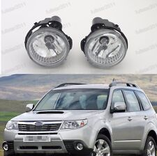 1Pair Fog Lights Lamps Clear w/Bulb For Subaru Forester 2011-2013