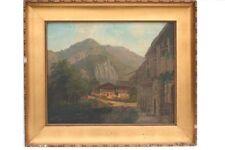 Dorf im Gebirge, Wohl Schweiz, 19.Jh. - Ölgemälde
