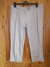 MONSOON beige 3/4 length cropped capri trousers jeans pants summer holiday 16 44