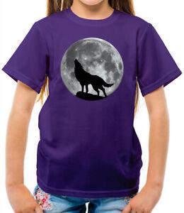 Wolf Moon Silhouette - Kids T-Shirt - Werewolf - Direwolf - Animal - Love