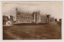 Berkshire postcard - Exterior of St George's Chapel, Windsor - RP (A118)