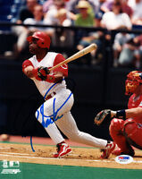 BARRY LARKIN SIGNED AUTOGRAPHED 8x10 PHOTO CINCINNATI REDS PSA/DNA
