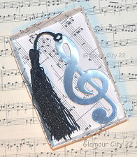 MUSIC NOTE BOOKMARK Treble Clef Silver Book Page Marker Teacher Birthday Gift