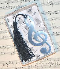 MUSIC NOTE BOOKMARK Treble Clef Silver Book Page Marker Reader Birthday Gift