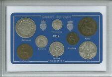1912 GB De Moneda Gran Británico Vintage Antiguo set (105th Cumpleaños Regalo Nacimiento Año)
