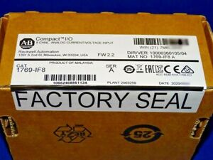 2020 FACTORY SEALED Allen Bradley 1769-IF8 /A Analog CompactLogix