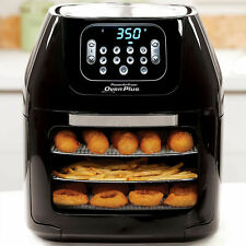 6-Quart Air Fryer Oven Plus/ Food Dehydrator Grill Bake Roast Fry Glass Door